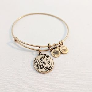 "Alex and Ani Gold ""Because I Love You"" Bracelet"